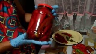 Рецепт маринованного острого перца с медом.