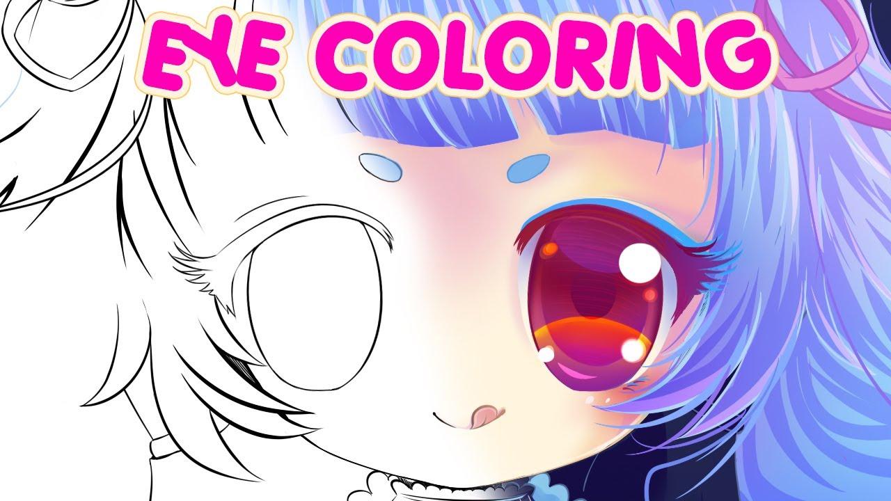 Easy Paint Tool SAI Speedpaint Anime Eyes Coloring