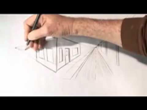 Phương pháp vẽ phối cảnh Kiến Trúc 2 điểm tụ
