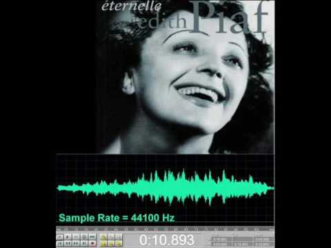 Edith Piaf - Non, Je ne regrette rien (Inception 44,1 to 11,025 kHz)