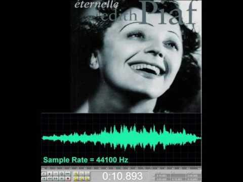 Edith Piaf - Non, Je ne regrette rien (Inception 44,1 to 11,025 kHz)