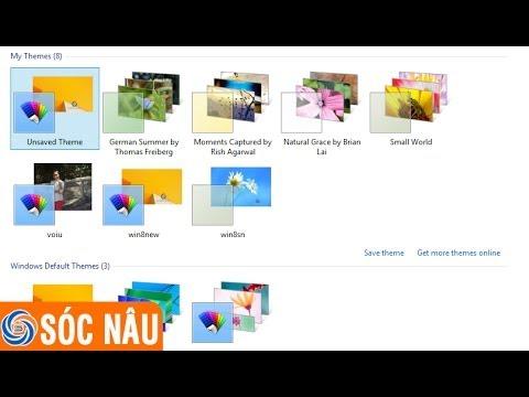 Cách thay đổi hình nền trên Windows 8