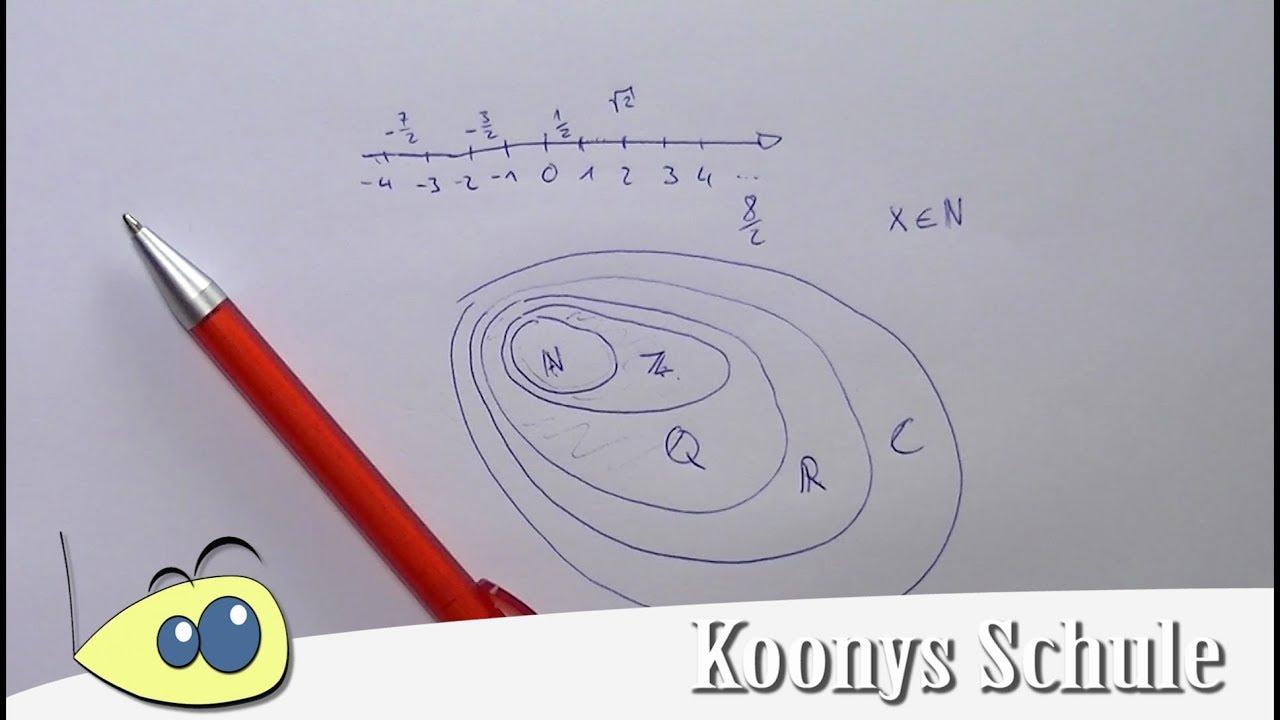 Zahlenmengen, Zahlenbereiche - natürlich, ganz, rational, reell ...
