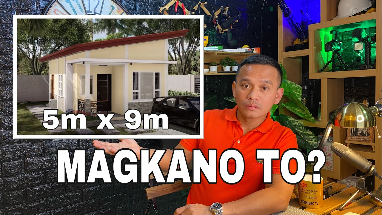 """Download Simple House Magkano ito? 5m x 9m = 45 sqmtrs  2Bedroom Residential house.""""[ENG SUB]"""""""