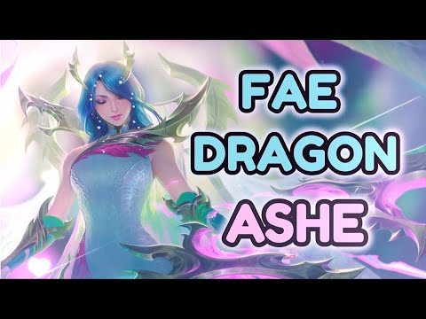 ASMR 🐉🐲 FAE DRAGON ASHE 🐉🐲 SEASON 10 SKIN PREVIEW PBE LEAGUE OF LEGENDS