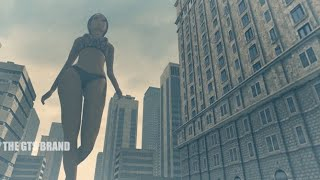 A Giantess Stroll Through The City