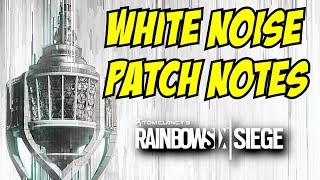 Rainbow Six Siege Operation White Noise Patch Notes Grenade & Pistol change weapon skins