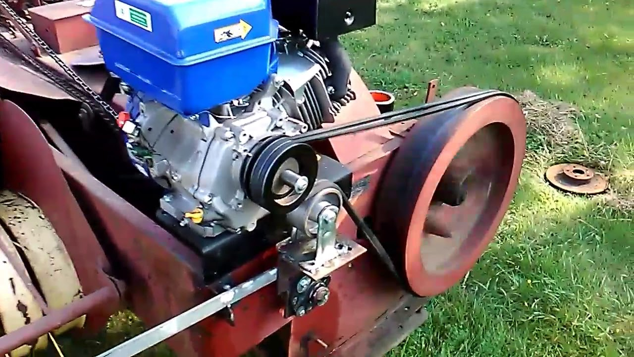 New Holland 66 hay baler with own engine  YouTube