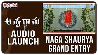Naga Shaurya Grand Entry @ Aswathama Audio Launch  Live