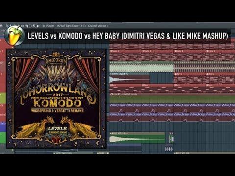 Levels vs Komodo vs Hey Baby (Dimitri Vegas & Like Mike 2017) FLP REVIEW