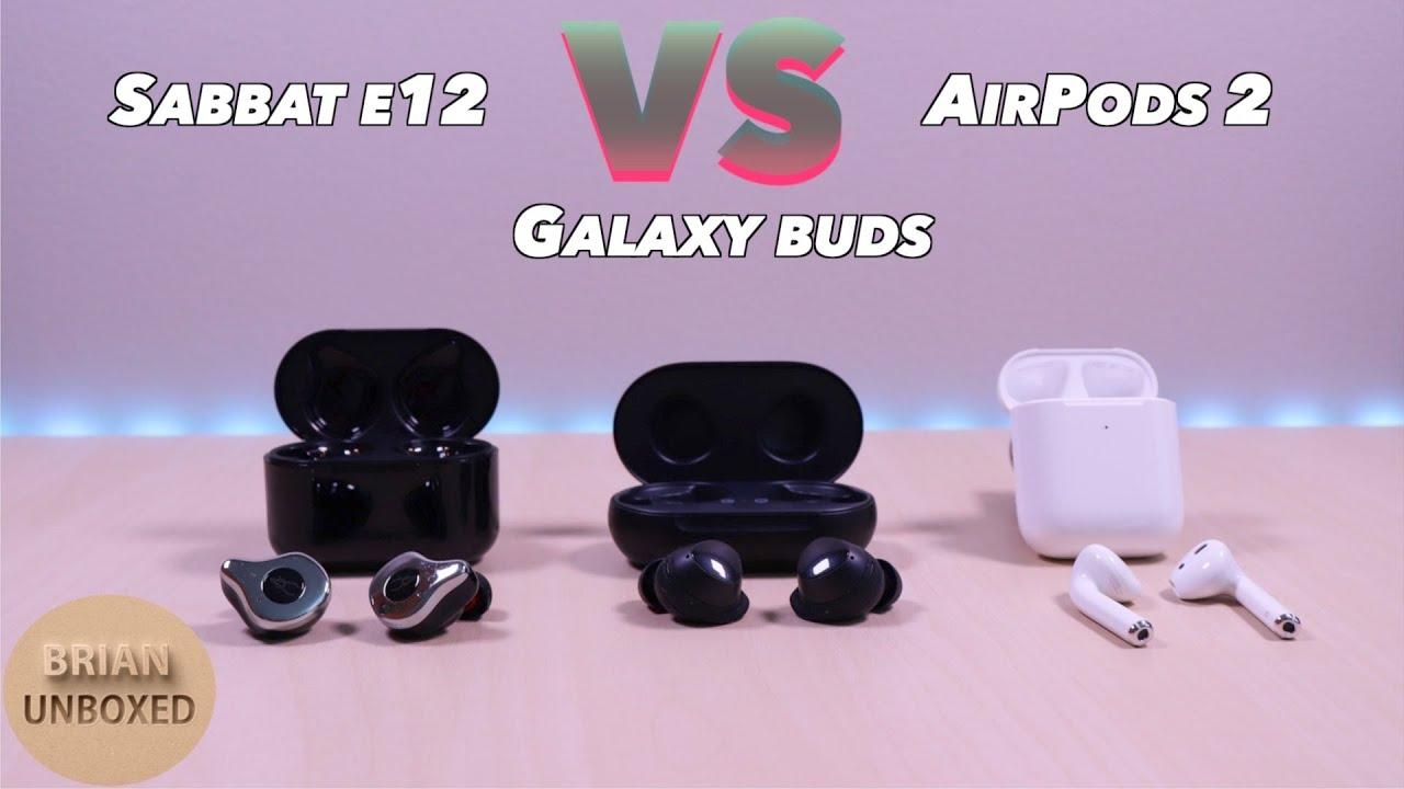 8f1e2b04d0d Sabbat E12 vs Samsung Galaxy Buds & Apple AirPods 2 - Can it beat the more  expensive brands?