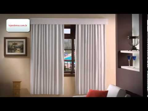 A medida certa para a sua cortina de var o youtube for Como hacer cortinas para sala