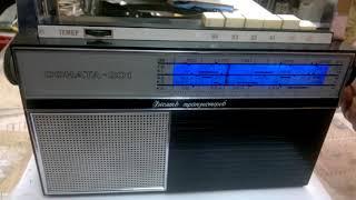 Краткий обзор. Приемник Соната-201 с модулем УКВ1 и УКВ2(FM) версии V6 виртуальный диапазон.