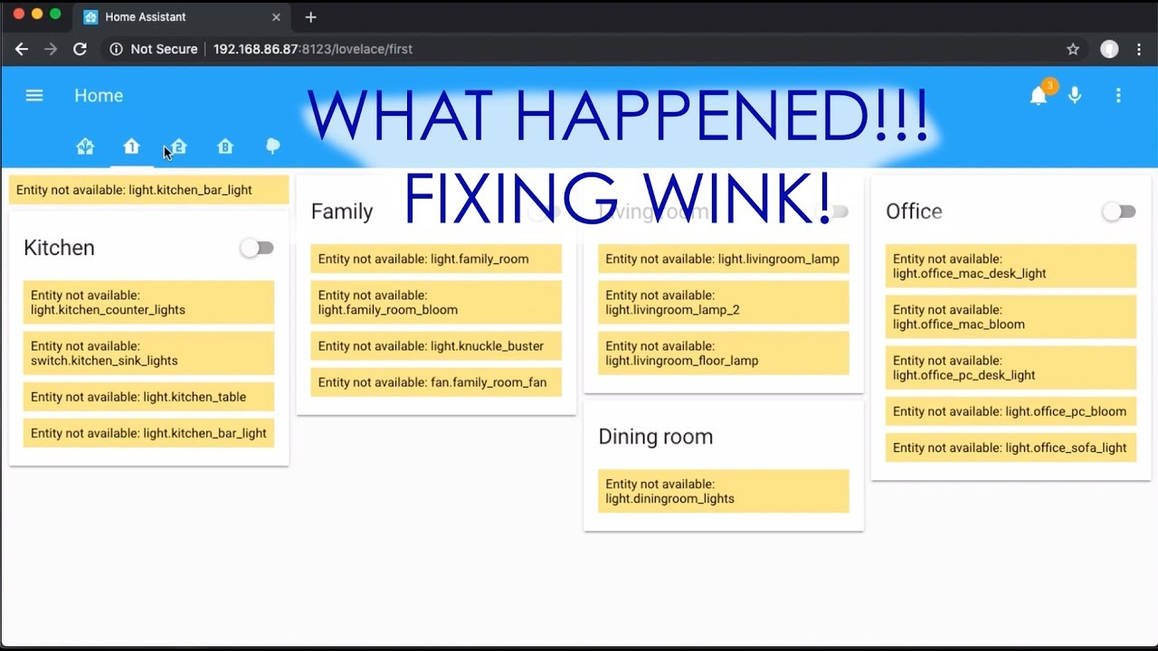 Troubleshooting your Wink Connecting for Home Assistant