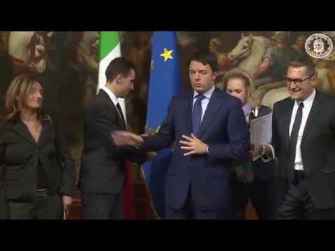 Renzi e Vincenzo Nibali Vincitore Tour de France - Campione Ciclismo