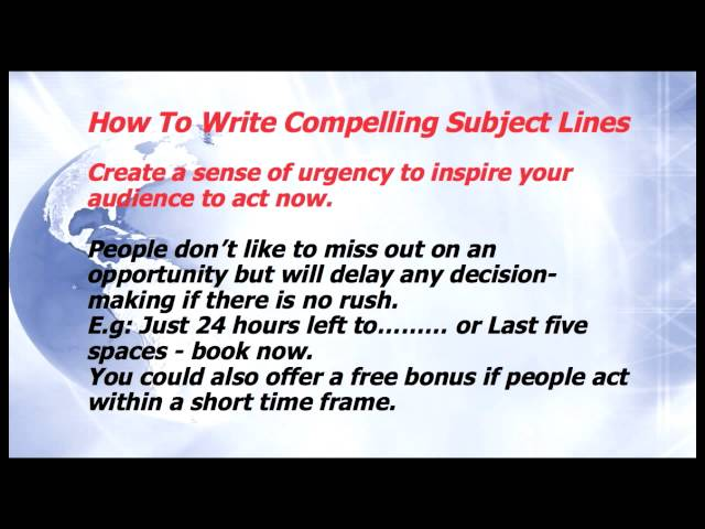 Email Marketing - How To Write Compelling Subject Lines Episode 12 Marketing On A Budget