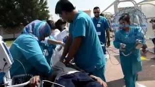 aaisc evacution  2014 - تدريب على الاخلاء مركز  العين للخدمات الاولية