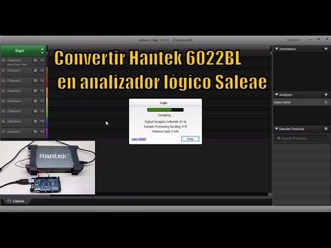 Convertir Hantek 6022BL en Analizador Lógico Saleae