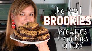 BEST ever BROOKIES recipe: chocolate chip cookie brownies!