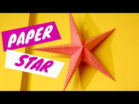 How To Make Simple & Easy Paper Star | DIY How To Make Star Lantern | Diwali & Christmas Decoration