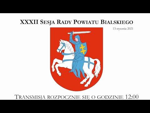 XXXII Sesja Rady Powiatu Bialskiego - 13.01.2021r.