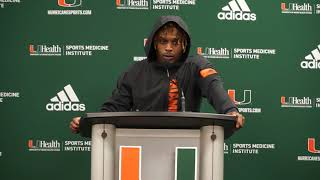 Jeff Thomas Postgame Presser | Miami vs. Virginia Tech | 10.05.19