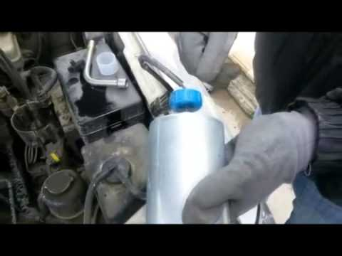 How to replace fuel filter of Hyundai Terracan(Diesel) 2.9 CRDI