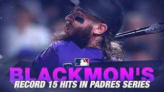 Blackmon's historic 15-hit series