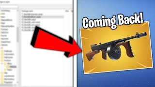 THE *DRUM GUN* IS COMING BACK IN FORTNITE! (LEAKED FILES?)