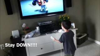Four Year Old Screams At Wii To Win Boxing