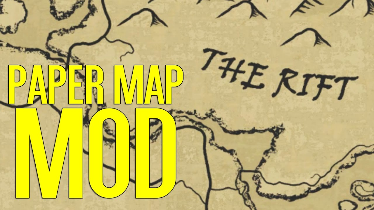A Quality World Map - Paper | Skyrim Special Edition Mod Spotlight ...