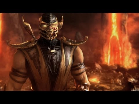 Mortal Kombat 9 Scorpion Fatality 1 2 3 Stage And Babality Hd