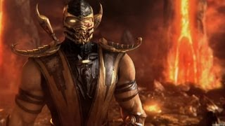 Mortal Kombat 9 Scorpion Fatality 1, 2, 3, Stage, and Babality (HD)