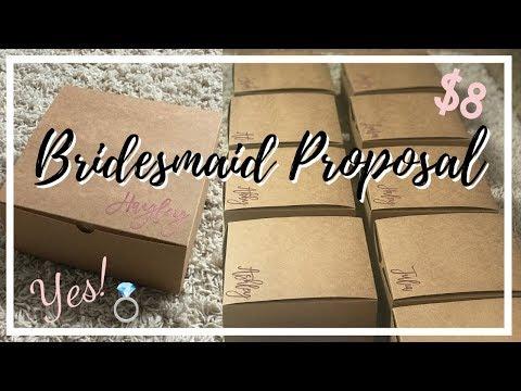 DIY BRIDESMAID PROPOSAL BOX | ON A BUDGET | WEDDING SERIES