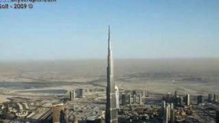 Burj Khalifa from the air, Burj Dubai aerial photos, 26 November 2009