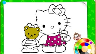 Hello Kitty Coloring Pages For Girls Free - Hello Kitty Online Coloring