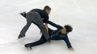 Adam Rippon crashes into Nan Song  - Universal Sports