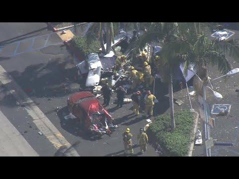 Video shows plane nosedive before deadly California crash