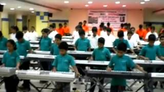 kalavahini students jana gana mana limca book record reharsal at prism degree college