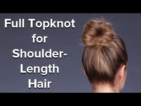Fake A Thick Bun For Medium Length Hair Hair Tutorial Beauty How To Youtube