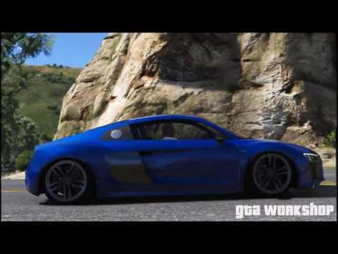 GTA 5   Audi R8 V10 2016   Fast Drive!   PC MOD