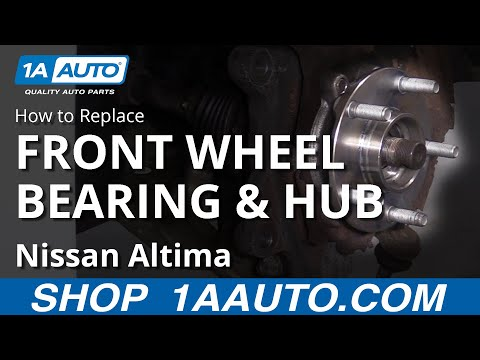 How to Replace Front Wheel Bearing 07-13 Nissan Altima