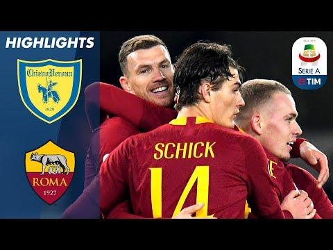 Chievo 0-3 Roma   Džeko, Kolarov & El Shaarawy Score to See Off Chievo!   Serie A
