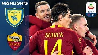 Chievo 0-3 Roma | Džeko, Kolarov & El Shaarawy Score to See Off Chievo! | Serie A