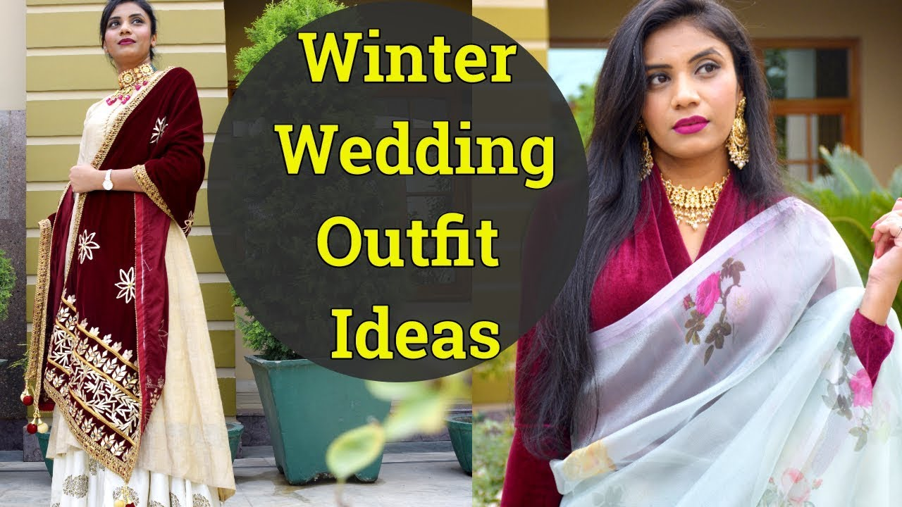 [VIDEO] - Winter Wedding Outfit Ideas | पुराने कपडे सर्दी की शादी में करे style | Reuse Old Clothes | Aanchal 9