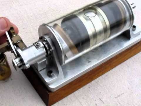 Swash Plate Type 12 Cylinder Air or Steam Engine Model - YouTube
