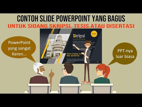 Contoh Power Point Yang Bagus Untuk Sidang Skripsi Dan Tesis Youtube