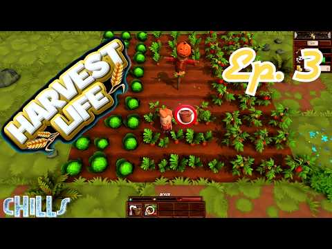 """Harvest Life Ep. 3 """"A Bigger Farm!!"""" Farming Country Life PC Gameplay"""