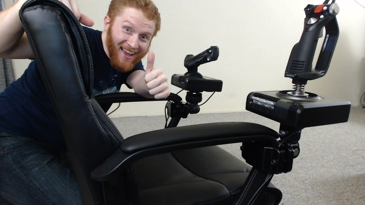 rocker es game chair cover hire berkshire how to mount hotas flight sticks an office for elite: dangerous and other sims ...