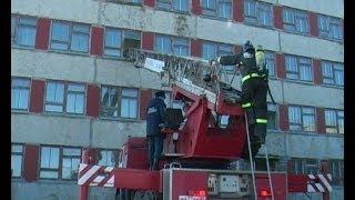 Пожарные учения в Охинском филиале СахГУ